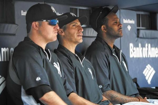 Phil Hughes, Andy Pettitte and CC Sabathia