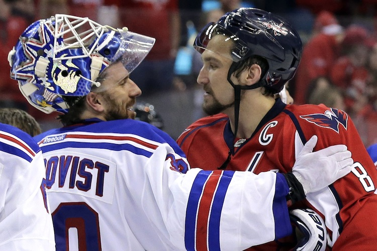 Henrik Lundqvist and Alex Ovechkin