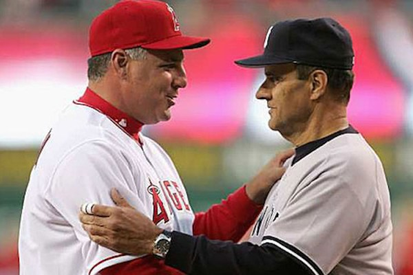 Mike Scioscia and Joe Torre