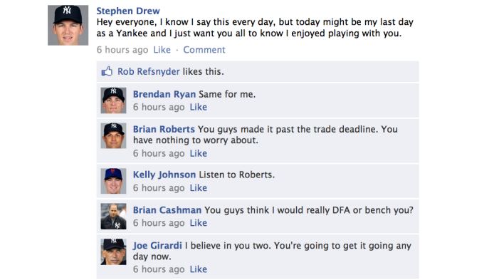 A Yankees Facebook Conversation
