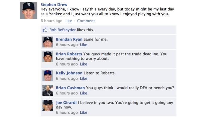 A Yankees Facebook Conversation
