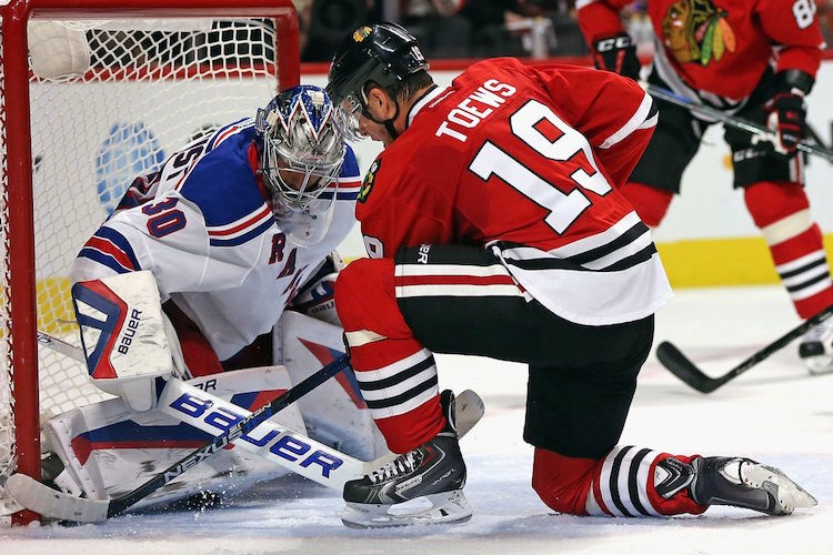 Henrik Lundqvist and Jonathan Toews