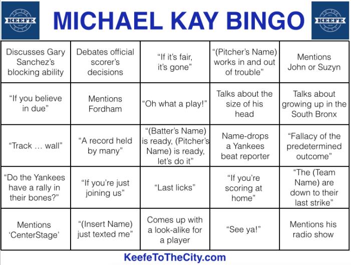 Michael Kay Bingo