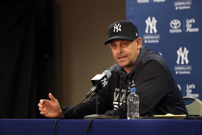 My New Year's Resolution: Don't Get Upset with Aaron Boone
