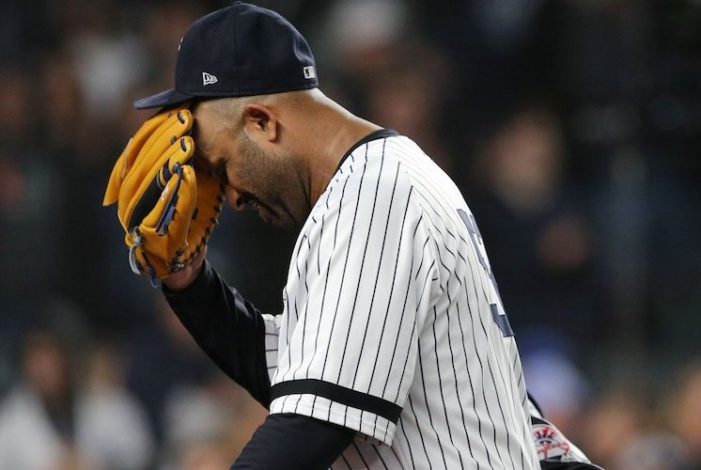 CC Sabathia Pitched Until He Physically Couldn't Pitch Anymore