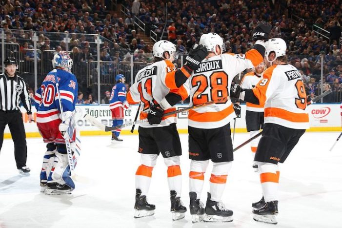Flyers Give Rangers Reality Check
