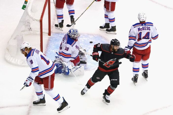 Rangers-Hurricanes Game 1 Thoughts: Henrik Lundqvist Still Can't Score in the Postseason