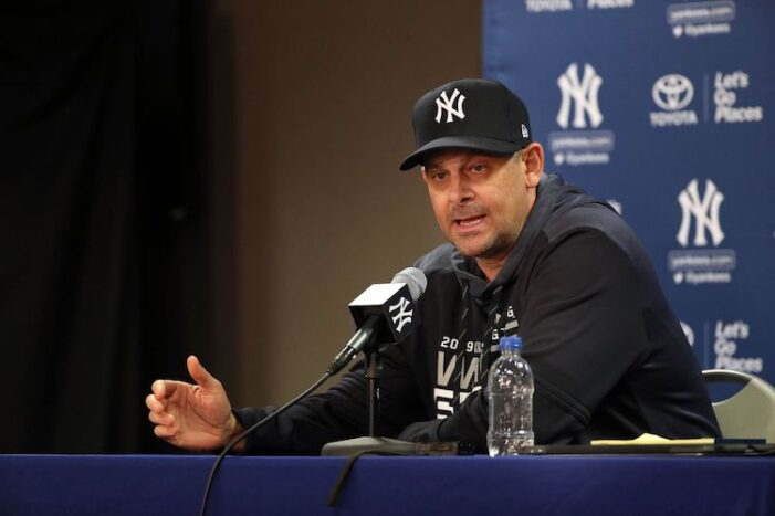 My New Year's Resolution (Again): Don't Get Upset with Aaron Boone