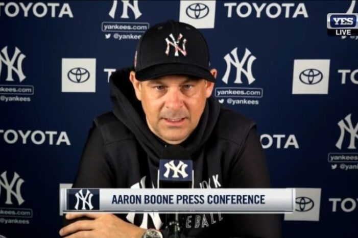 Aaron Boone Has Excuse for Every Loss